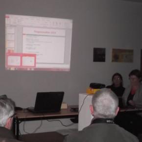 De gauche à droite, Cécile Blondy et Mireille Migné, membres de la Direction collégiale de l'association du Centre d'art.