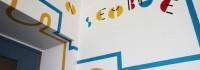 Fresque à l'école publique les Sables d'or de Saint-Pierre Montlimart