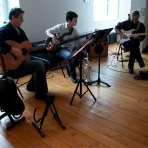 Concert jazzy, vernissage expo Benoiton, Bonin, Brunet / 2011