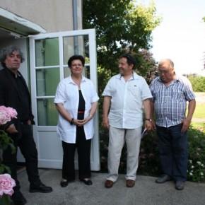 De g. à dr., Jean-Gilles Badaire, Martine Charles, en charge de la culture à la Compa, Michel Amelin, administrateur, et Mr Jamin, conseiller municipal.