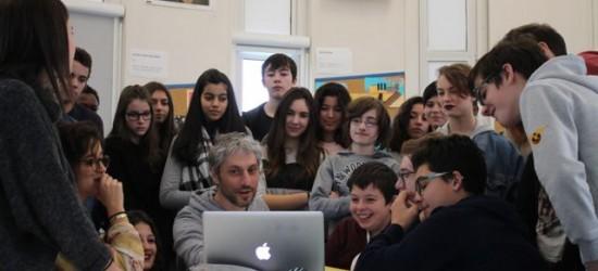 Intervention de Frédéric Malette au collège Maryse Bastié d'Ingrandes sur Loire