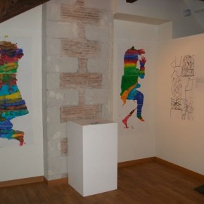 Groupe de jeunes de l'IME Alexis Ricordeau de Varades. Ateliers de la résidence 2011 avec l'artiste Patricia Cartereau.