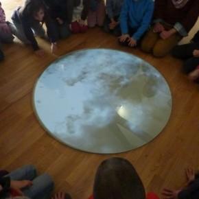 Visite : reflets du ciel et rond de la Lune